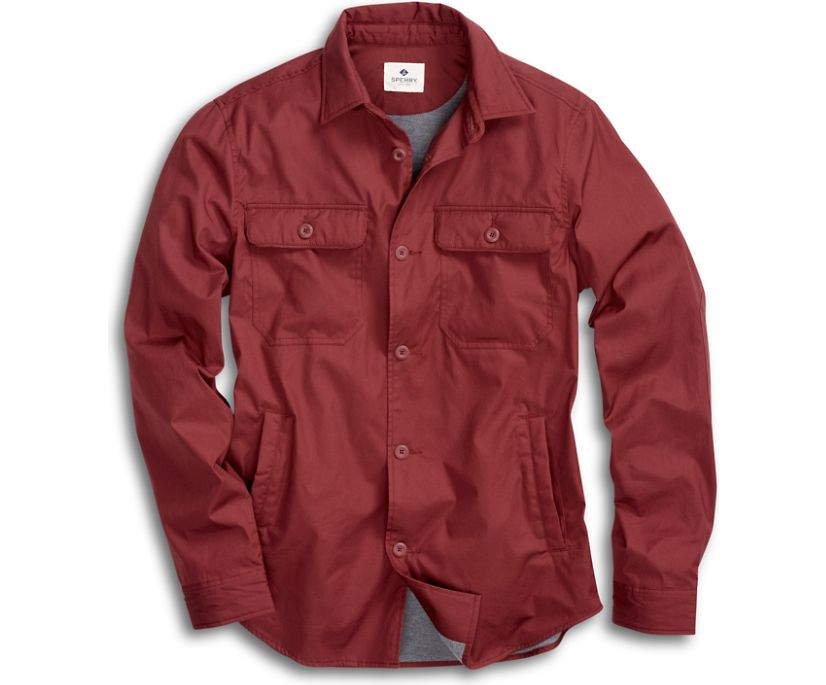 Jersey Lined Shirt Jacket, Andorra, dynamic
