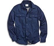 Jersey Lined Shirt Jacket, Navy, dynamic