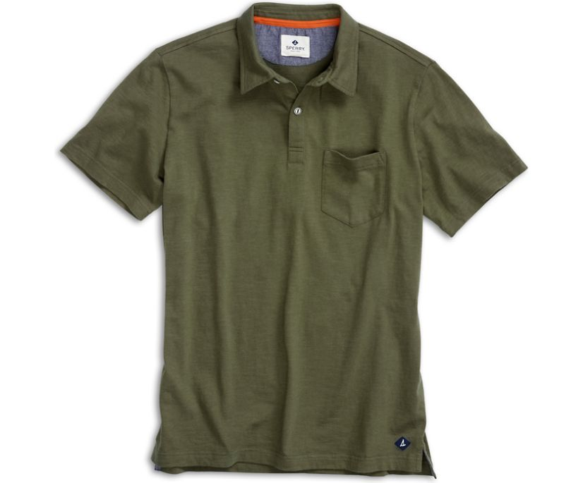 Polo Shirt, Ivy Green, dynamic
