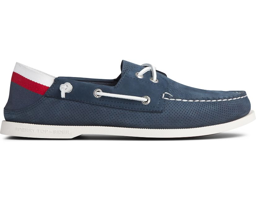 Authentic Original Kick Down Boat Shoe, Navy, dynamic