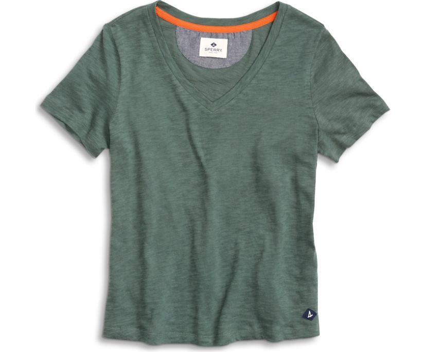V-Neck T-Shirt, Thyme, dynamic
