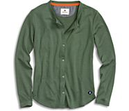 Button Front Thermal T-Shirt, Thyme, dynamic