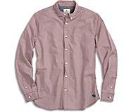 Micro Gingham Button Down Shirt, Red, dynamic