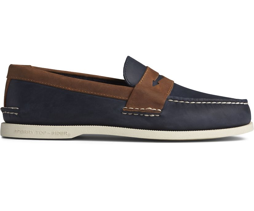 Authentic Original Penny Loafer, Navy/Sonora, dynamic