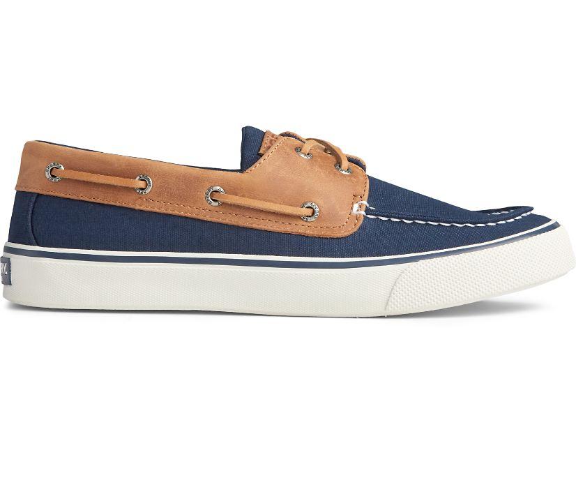 Bahama II Leather Collar Sneaker, Navy/Dark Tan, dynamic