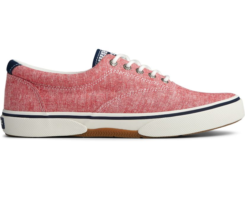 Halyard CVO Chambray Sneaker, Red, dynamic
