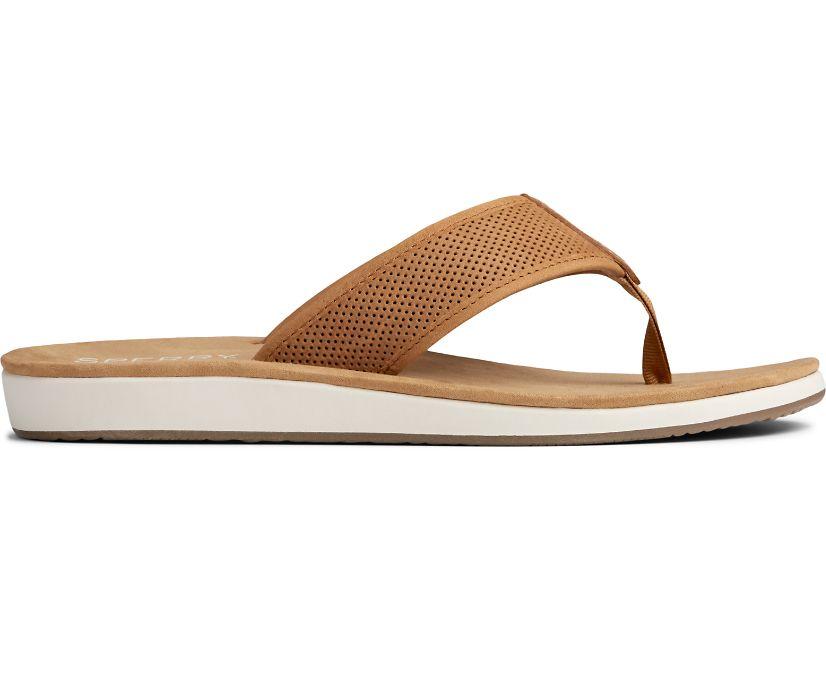 Bayside Perf Flip Flop, Tan, dynamic