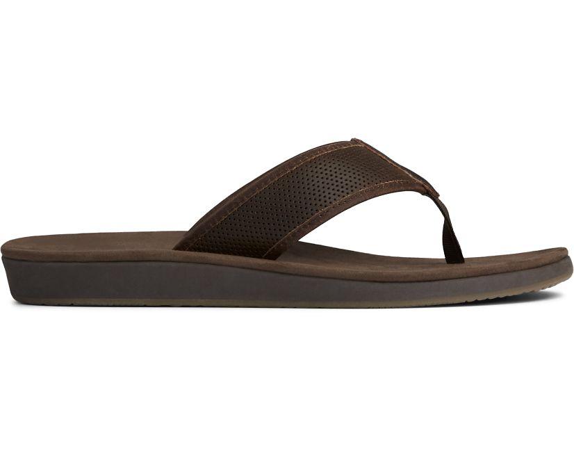 Bayside Perf Flip Flop, Brown, dynamic