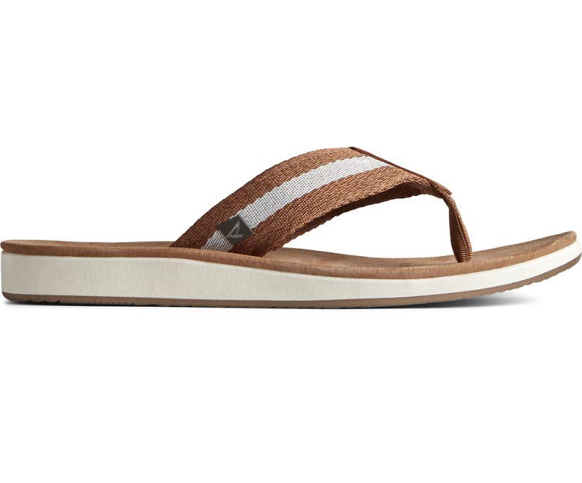 Bayside Flip Flop Webbing, Tan, dynamic