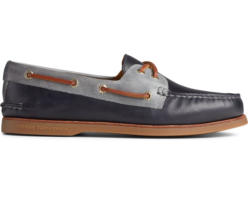 Gold Cup Authentic Original Camden Boat Shoe, Wild Blue, dynamic