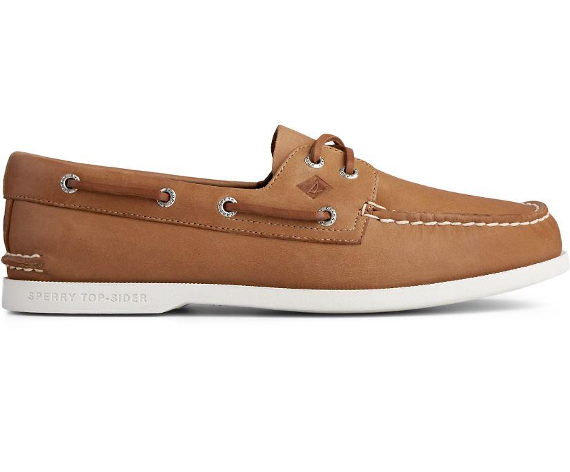 Authentic Original PLUSHWAVE Boat Shoe, Tan, dynamic