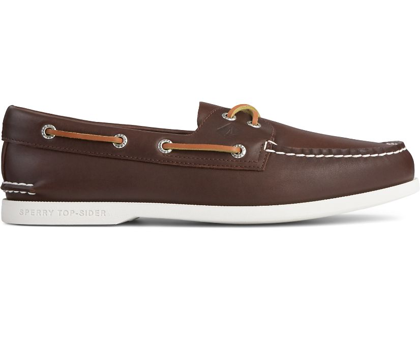 Authentic Original PLUSHWAVE Boat Shoe, Brown, dynamic