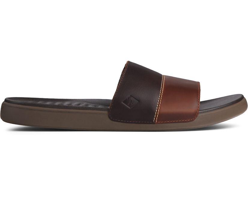 Dock Slide PLUSHWAVE Sandal, Brown, dynamic