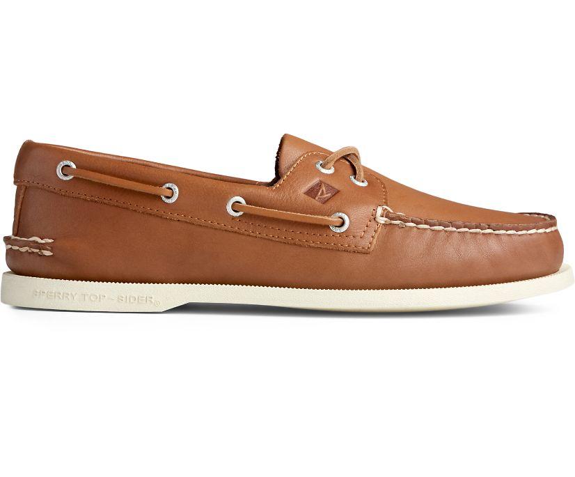 Authentic Original Whisper Boat Shoe, Tan, dynamic