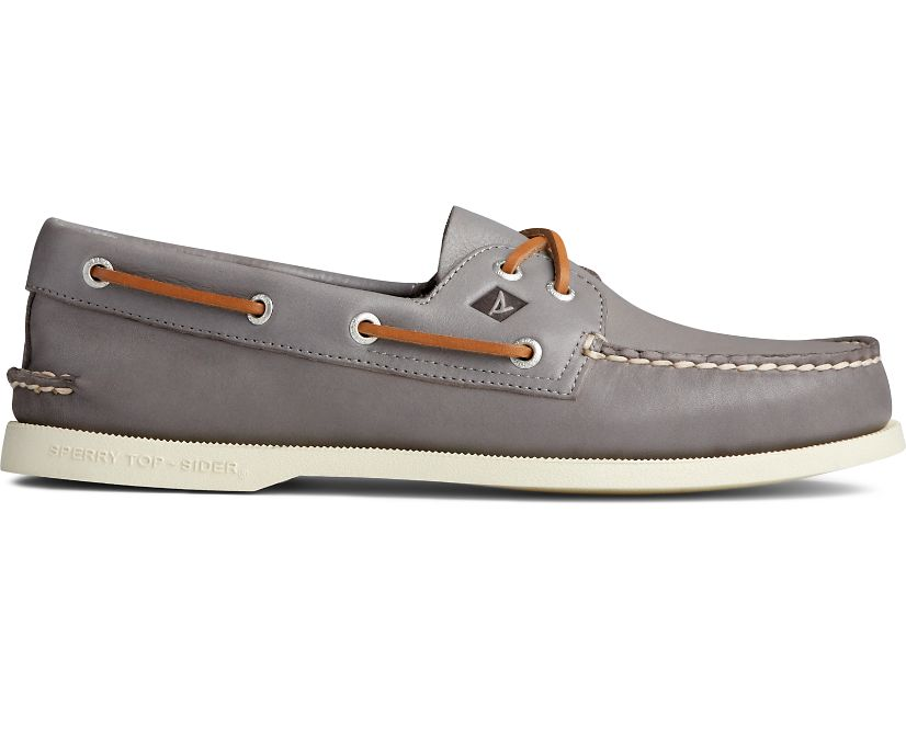 Authentic Original Whisper Boat Shoe, Grey, dynamic