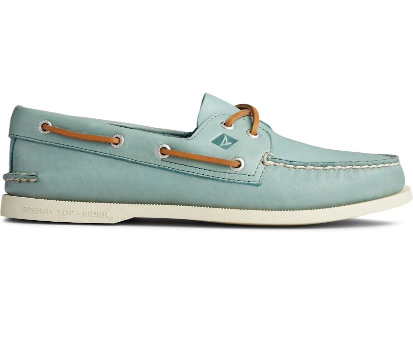 Authentic Original Whisper Boat Shoe, Green, dynamic
