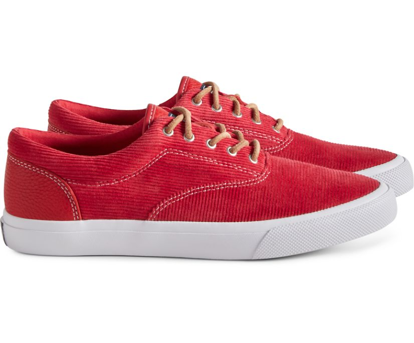Unisex Cloud CVO Corduroy Deck Sneaker, Red, dynamic