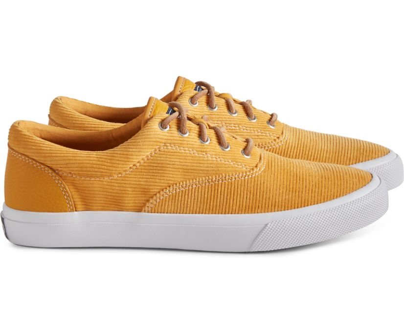 Unisex Cloud CVO Corduroy Deck Sneaker, Yellow, dynamic