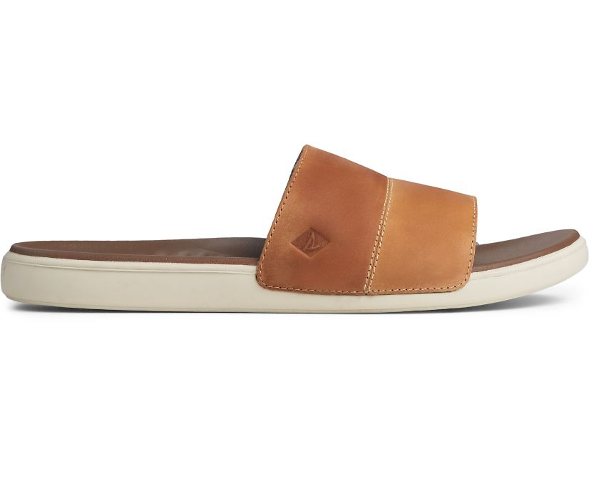 Dock Slide PLUSHWAVE Sandal, Tan, dynamic