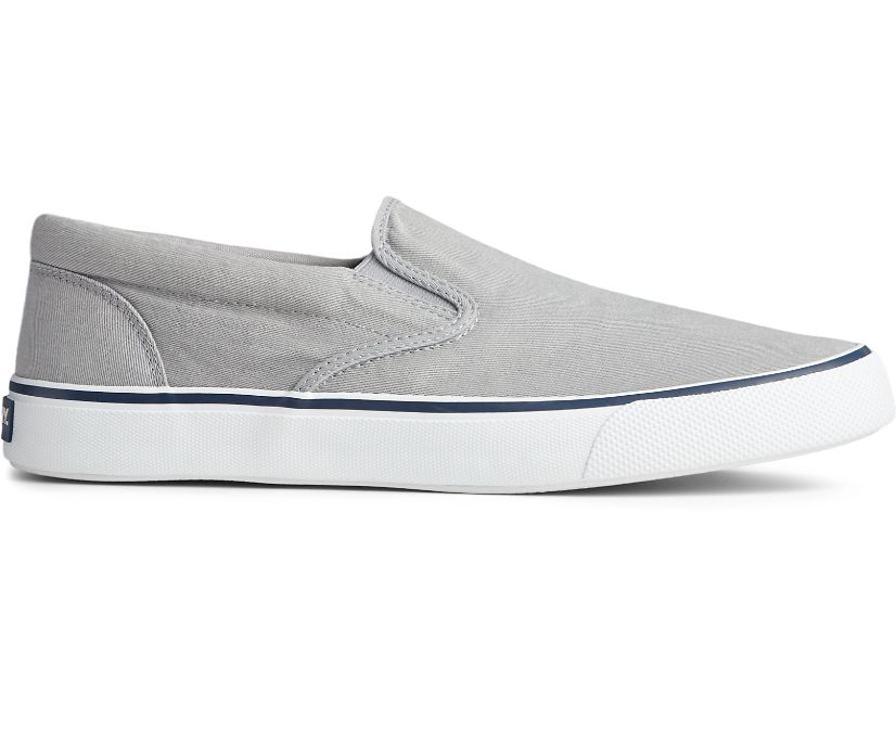 Striper II Slip On Sneaker, Grey, dynamic
