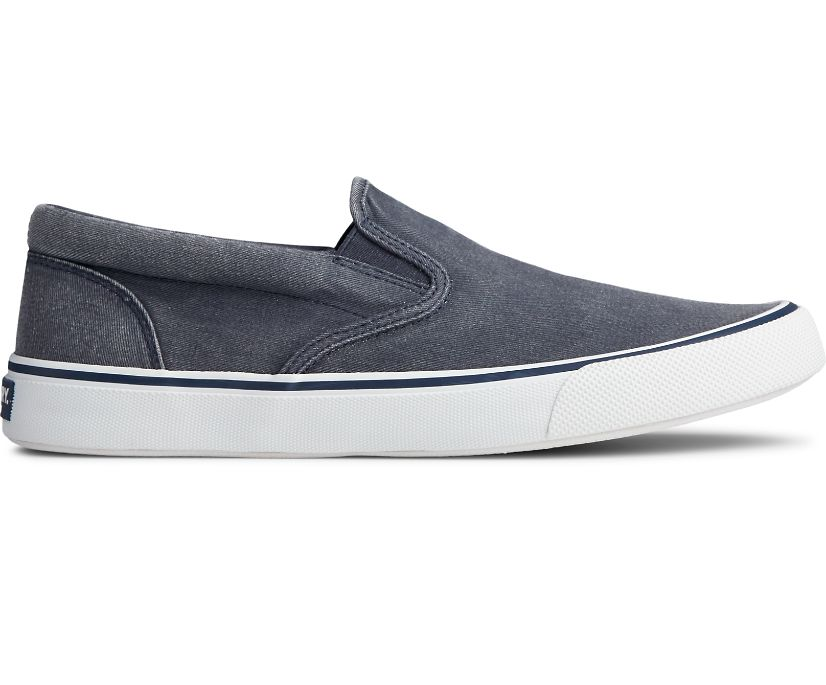 Striper II Slip On Sneaker, Navy, dynamic