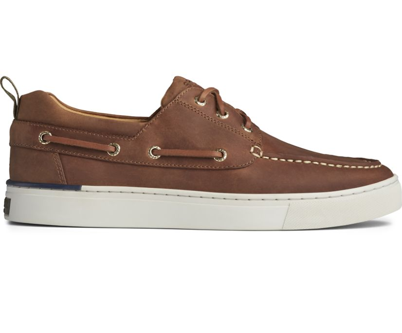 Gold Cup Victura 3-Eye Boat Shoe, Sonora, dynamic