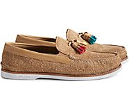 Unisex Cloud Authentic Original Suede Tassel Loafer, Tan, dynamic