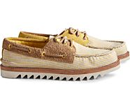 Cloud Authentic Original Seersucker 3-Eye Boat Shoe, Yellow, dynamic