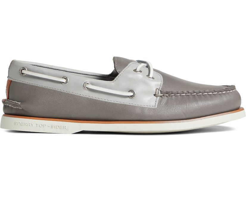 Gold Cup Authentic Original Cross Lace Boat Shoe, Grey/Light Grey, dynamic