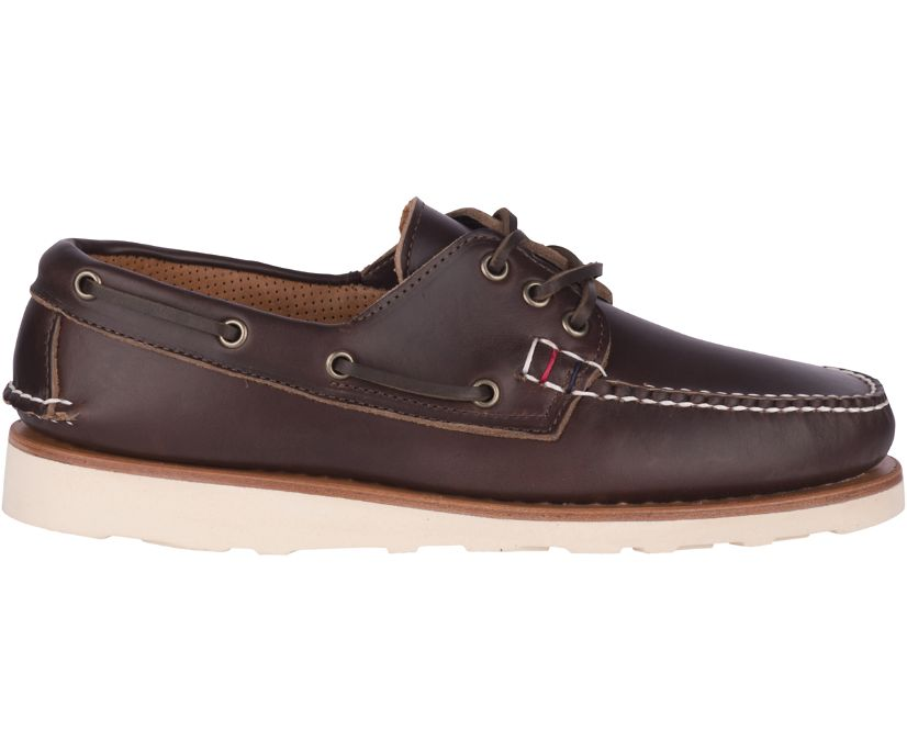 Gold Cup Handcrafted in Maine 3-Eye Boat Shoe, Brown, dynamic