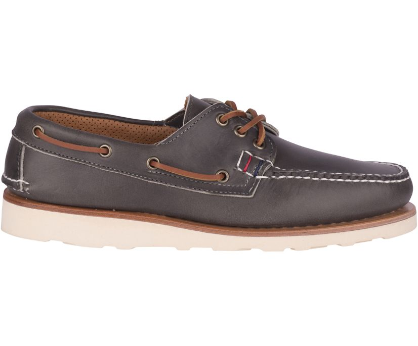 Gold Cup Handcrafted in Maine 3-Eye Boat Shoe, Grey, dynamic