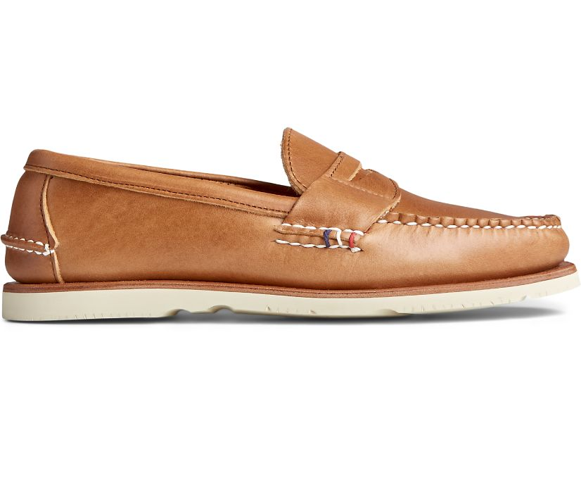 Gold Cup Handcrafted in Maine Penny Loafer, Tan, dynamic