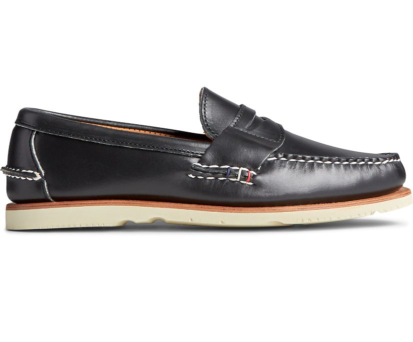 Gold Cup Handcrafted in Maine Penny Loafer, Black, dynamic