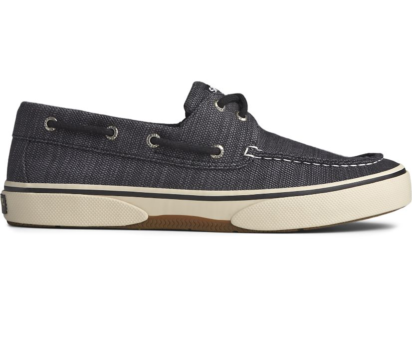 Halyard 2-Eye Baja Boat Shoe, Charcoal, dynamic