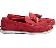 Unisex Cloud Authentic Original Suede Tassel Loafer, Red, dynamic