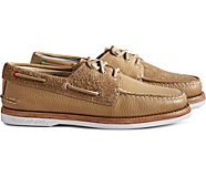 Cloud Authentic Original 3-Eye Suede Boat Shoe, Tan, dynamic