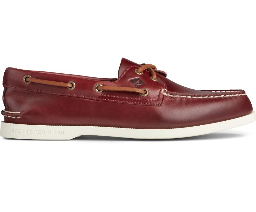 Authentic Original PLUSHWAVE Varsity Boat Shoe, Burgundy, dynamic