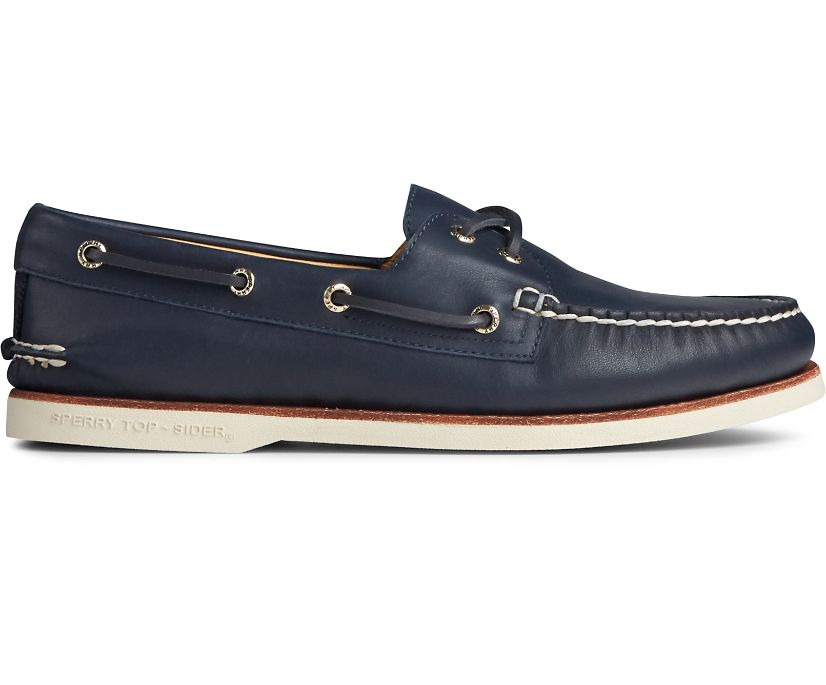 Gold Cup Authentic Original Glove Leather Boat Shoe, Navy, dynamic