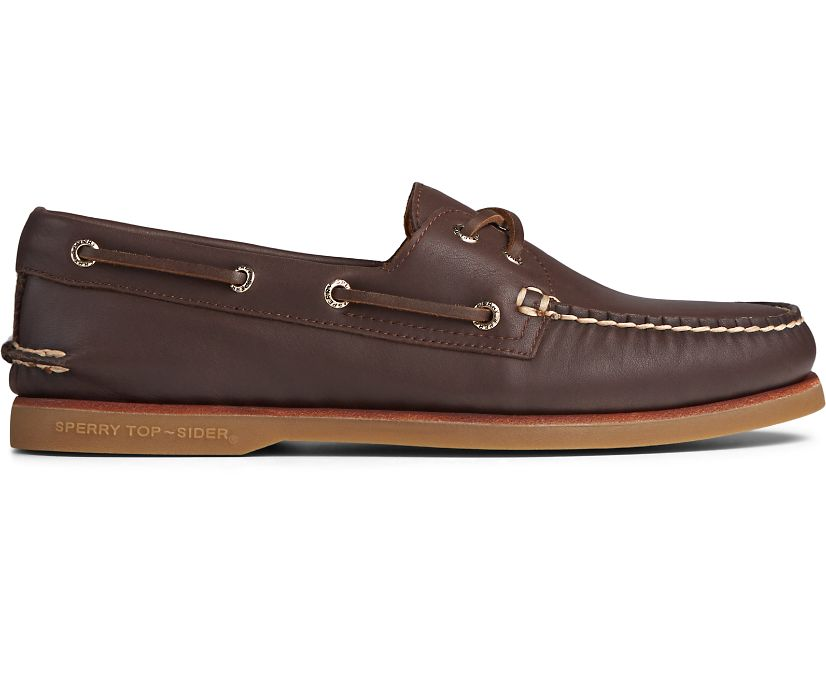 Gold Cup Authentic Original Glove Leather Boat Shoe, Brown, dynamic