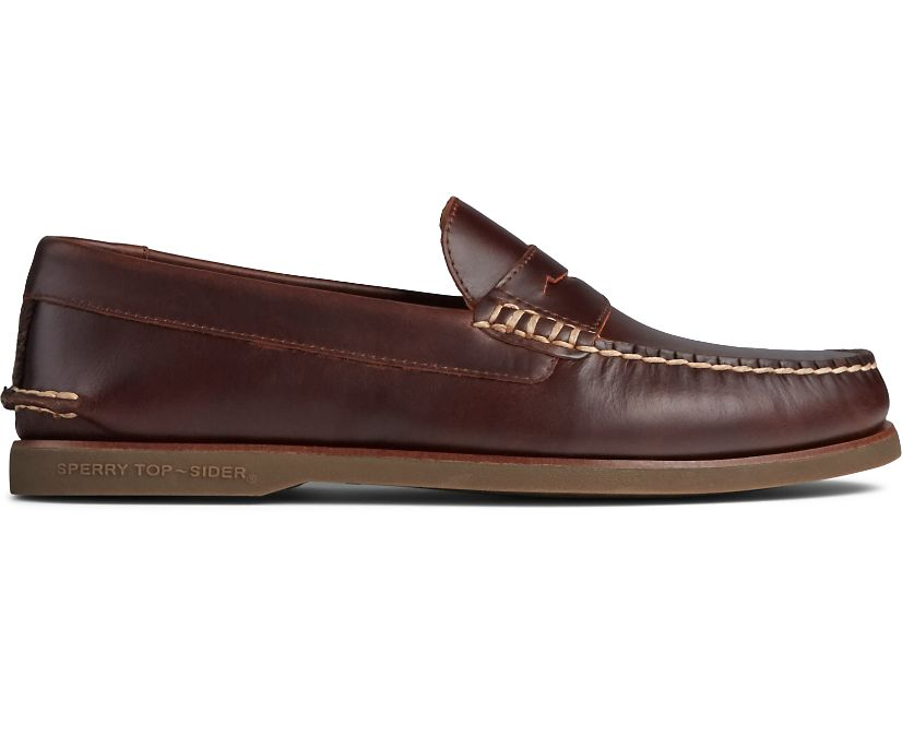 Gold Cup Cambridge Penny Loafer, Amaretto, dynamic
