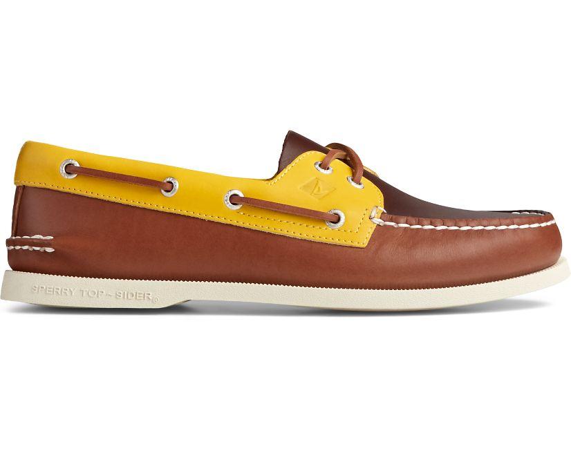 Authentic Original Tri-Tone Boat Shoe, Tan Multi, dynamic