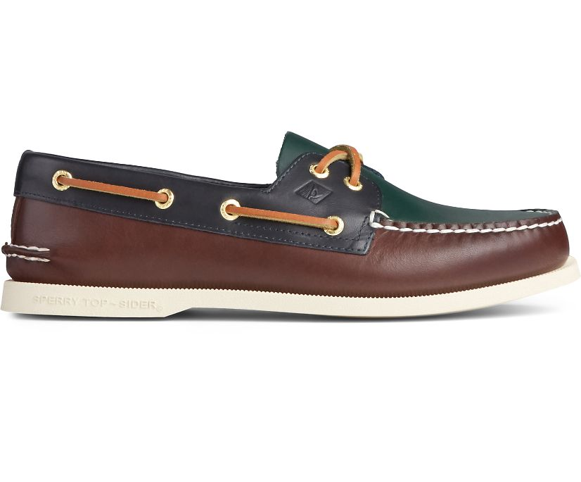 Authentic Original Tri-Tone Boat Shoe, Brown Multi, dynamic