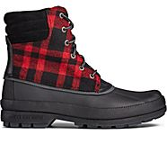 Cold Bay Duck Boot, Black/Buff Check, dynamic