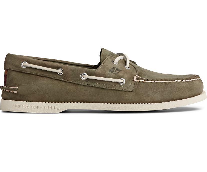 Authentic Original Surf Boat Shoe, Olive, dynamic