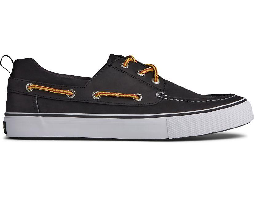 Bahama 3-Eye Leather Sneaker, Black/White, dynamic