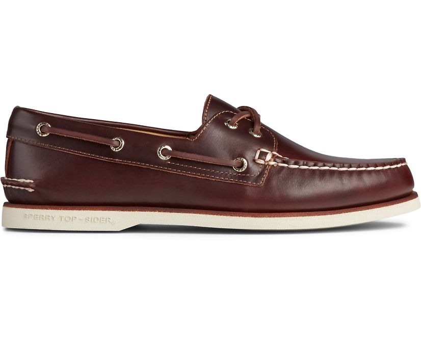 Gold Cup Authentic Original Orleans Boat Shoe, Amaretto, dynamic