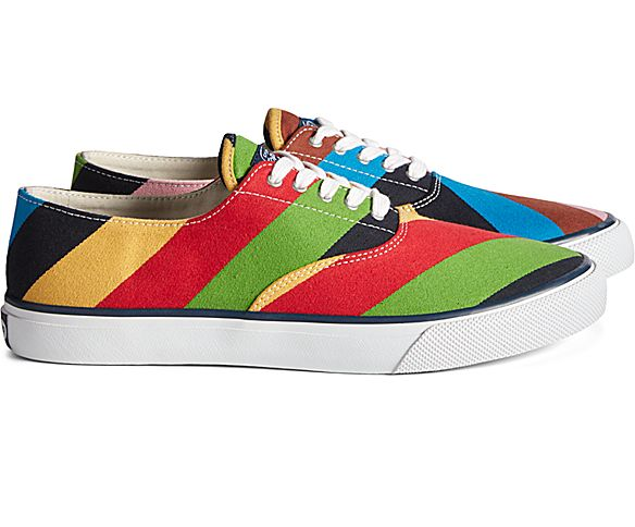 Unisex Sperry x Rowing Blazers Cloud CVO Croquet Striper Sneaker, Multi, dynamic
