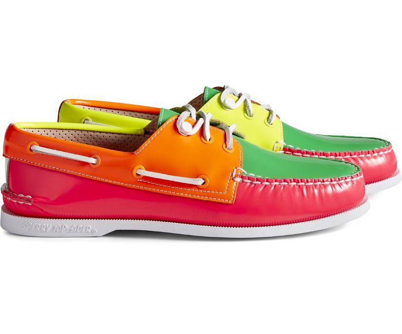 Cloud Authentic Original 3-Eye Boat Shoe, Neon Multi, dynamic