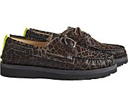 Cloud Authentic Original 3-Eye Pony Hair Boat Shoe, Black, dynamic