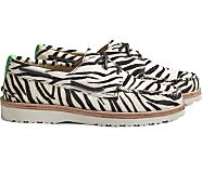 Cloud Authentic Original 3-Eye Pony Hair Boat Shoe, White Tiger, dynamic